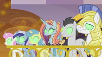 Canterlot ponies and royal guards Sombrafied S9E2