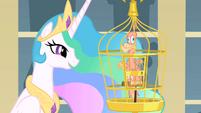 Celestia and featherless Philomena S01E22