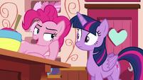 Pinkie Pie --you should talk to Applejack-- S6E22