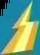 Yellow upside-down lightning bolt