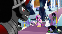 Sombra tells Shining and Cadance to kneel S9E1