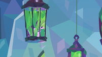 Starlight Glimmer in a hanging cage S9E25