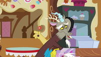 Discord asks Pinkie who she's going to the Gala with S5E7
