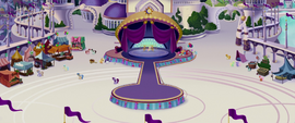 Distance view of Rainbow decorating the stage MLPTM