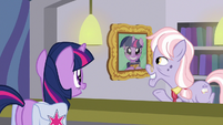 Dusty Pages shows Twilight's wall photo S9E5