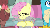 Fluttershy cuddling with adorable bunnies MLPS3