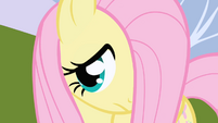 Fluttershy watches Twilight turn around and talk to Spike S1E01