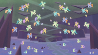 Hippogriffs and seaponies partying together S8E16
