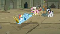Rainbow Dash catches the Truth Talisman S9E21