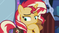 Sunset Shimmer thinking for a moment EGS3