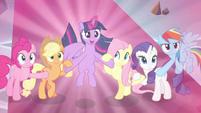 "Twilight declares again ""for Equestria!"" S9E2"