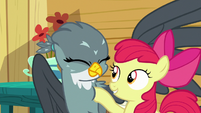 Apple Bloom lightly poking Gabby S6E19