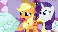 "Applejack ""it'll be covered in dirt in no time"" S7E9"