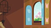 Fluttershy's cutie mark floats out the window S5E23