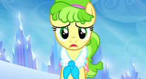 Ms. Peachbottom running with sad expression S3E12