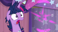 Twilight Sparkle gasping deeply in shock S9E16