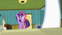 Twilight and Flurry looking at Nurse Redheart S7E3