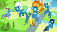 Wonderbolts' training disrupted by turbulence S7E7