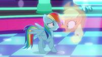 "Applejack vision ""careful when dancing!"" S8E5"