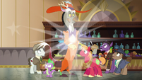 Discord, Spike, and Mac appear at the bar S6E17