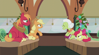 Granny Smith breathing on the window glass S5E20