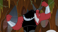 Lord Tirek kissing his muscles S9E1