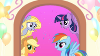 MLP Friendship Celebration app - Lily Blossom, AJ, Twilight, and Rainbow