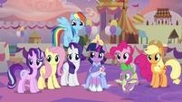 Main ponies and Spike hear Celestia S9E26