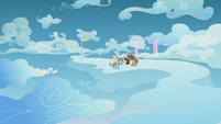 Rainbow, Fluttershy, and Boy Bullies on a faraway cloud S5E25