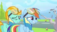 Rainbow Dash & Lightning Dust dang! S3E7