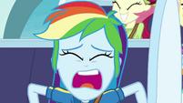 "Rainbow screaming ""stop the ride!"" EGROF"
