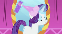 Rarity using a lot of hairspray MLPS1