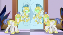 Sombrafied guards guarding the throne room S9E2
