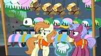 Zip-lining ponies see Luna off-screen S9E13
