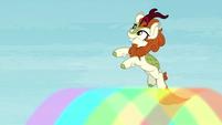 Autumn Blaze jumps off a rainbow S8E23