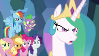 Celestia -hold them off as long as we can!- S9E25