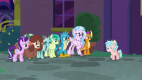 Cozy Glow stomping up to Young Six S8E26