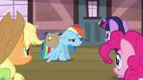 "Rainbow Dash ""got the bad news"" S03E12"
