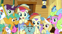 Rainbow Dash Fan Club members excited S8E20