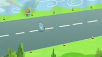 Rainbow Dash crossing the runway S6E7