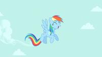 Rainbow Dash in the clear sky S4E23