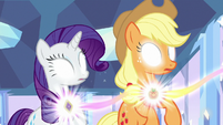 Rarity and AJ freed from Sombra's control S9E1