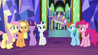 Spike flying out of the throne room S8E24