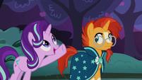 Starlight Glimmer shows Sunburst the apple trees S7E24