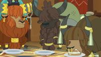 Yaks eating vanilla yak cake in yak eating hut S7E11