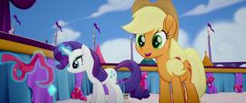 Applejack asks about Twilight's meeting MLPTM