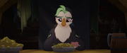 Captain Celaeno eating a bowl of slop MLPTM.png