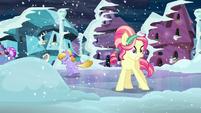 Crystal pony on slippery road S6E2