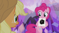 Pinkie Pie with a picture of obsidian S5E20