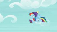 Rainbow Dash flying through the sky MLPBGE